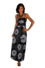 Robe longue originale ajustée très féminine col carré Lalao