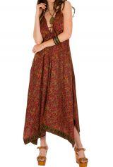 Robe longue originale avec imprimés traditionnels indien Dorinda 293163