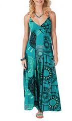 Robe longue originale bleue Oxlene 267810