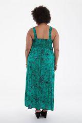 Robe longue Originale d'été et Smockée Sylvia Verte 284374