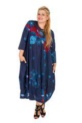 Robe longue originale en voile de coton grande taille Abby
