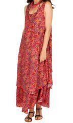 Robe longue originale et colorée avec un imprimé fashion Cathie 312513