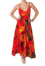 Robe longue originale et colorée Opal 313054