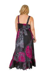Robe longue originale imprimée moderne grande taille Tacy