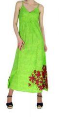 Robe longue originale imprimée tendance anis 245148