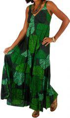 Robe longue originale verte style bohème femme Daria 309511
