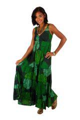 Robe longue originale verte style bohème femme Daria 309512