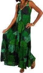 Robe longue originale verte style bohème femme Daria 313044