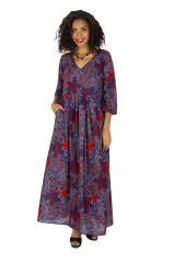 Robe longue pour femme ample et bohème à fleurs Ignas 315935