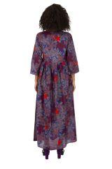 Robe longue pour femme ample et bohème à fleurs Ignas 315936