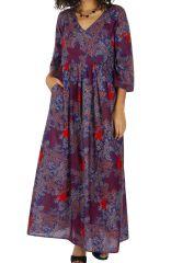 Robe longue pour femme ample et bohème à fleurs Ignas 315937