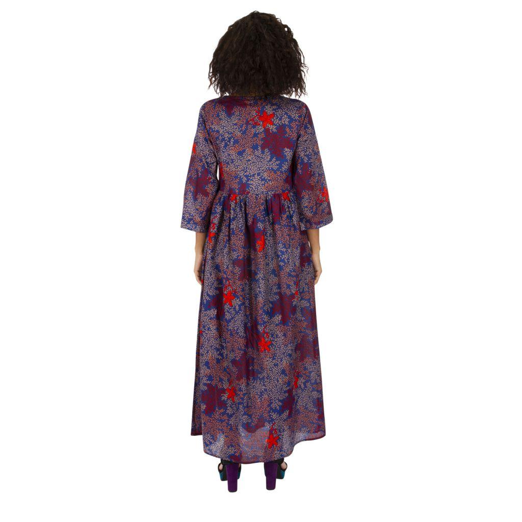 Robe longue pour femme ample et bohème à fleurs Ignas 315939