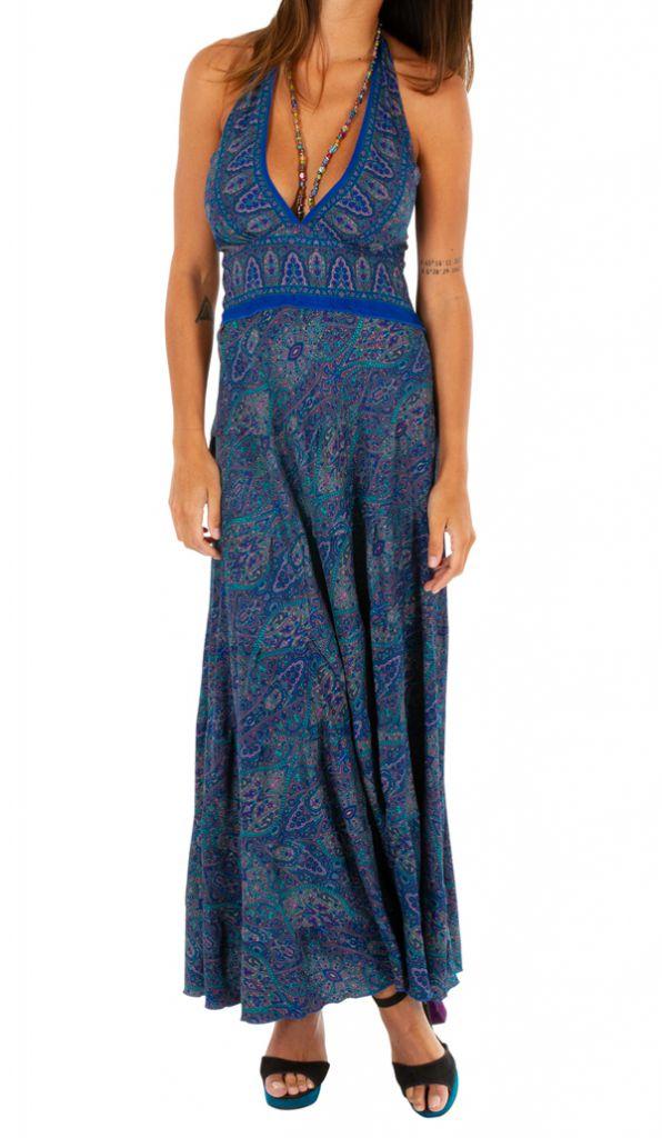 Robe longue pour femme ethnique et bohème Clotilde 310286