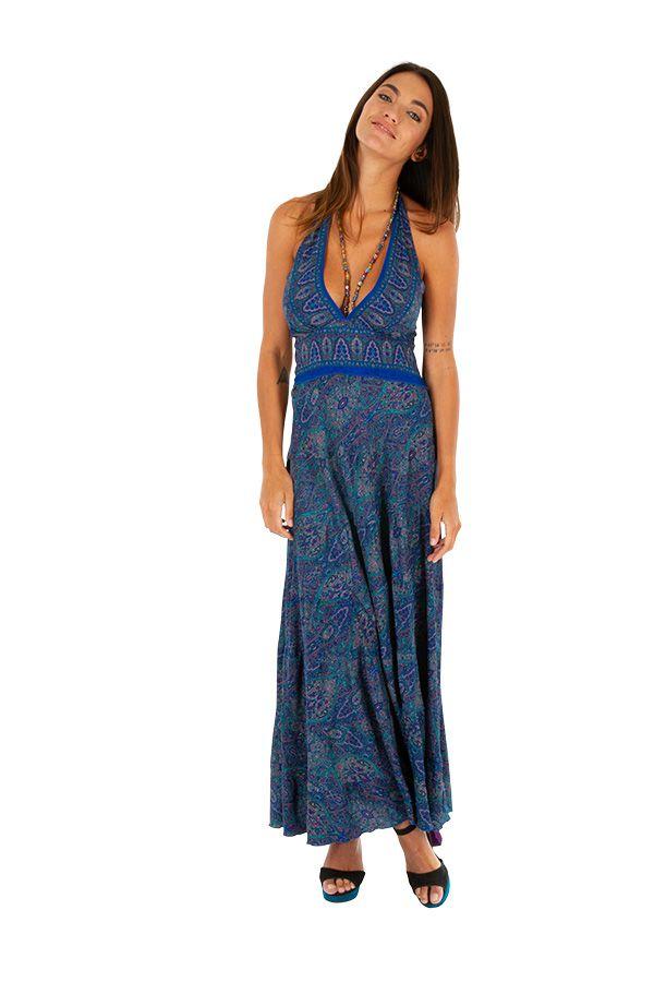 Robe longue pour femme ethnique et bohème Clotilde 310287