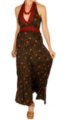 Robe longue pour femme fashion et imprimée paisleys Manaé 310319