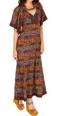 Robe longue pour femme fluide et originale Massaoua Multi 314438