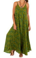 Robe longue pour femme imprimée et ethnique Victoria 311603