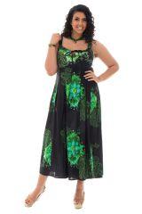 robe longue pour femme ronde avec joli col rond Zélie 290187