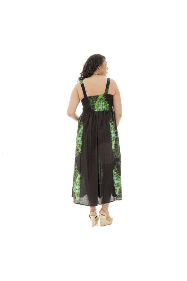 robe longue pour femme ronde avec joli col rond Zélie 290188