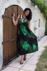 robe longue pour femme ronde avec joli col rond Zélie 290189