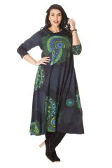 Robe longue pour femme ronde d'Inde et Ethnique Papaye à Mandalas 286215