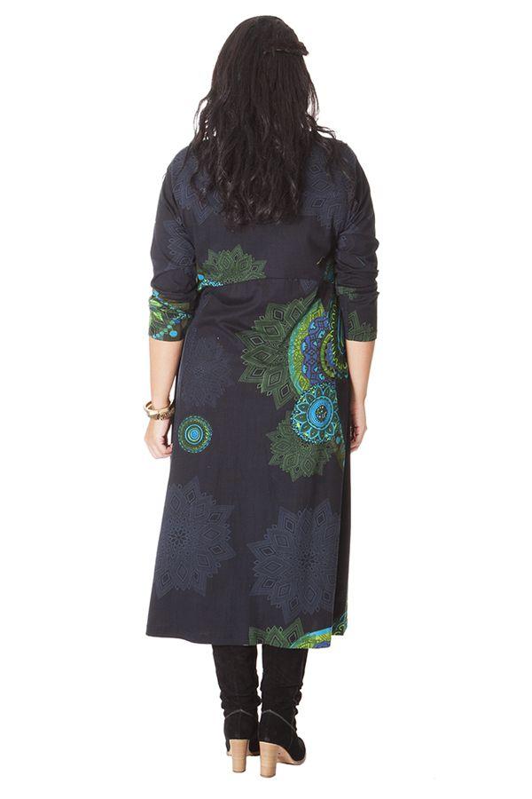 Robe longue pour femme ronde d'Inde et Ethnique Papaye à Mandalas 286216