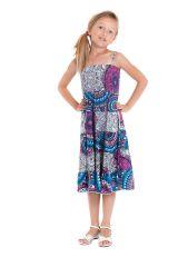 Robe longue pour Fille à bretelles Ethnique Nymphe à Mandalas Roses 280424