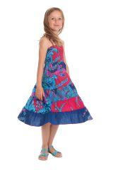 Robe longue pour Fille Rose et Bleue à bretelles Ethnique Nymphe 280411