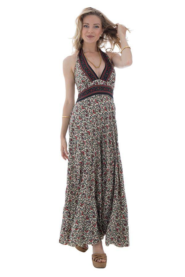 robe longue romantique smockée au dos et imprimés floraux Karalee 289738