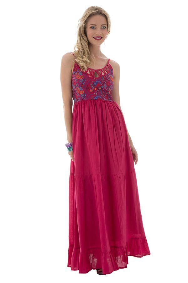 Robe longue rose top pour une cérémonie Jesica 288640