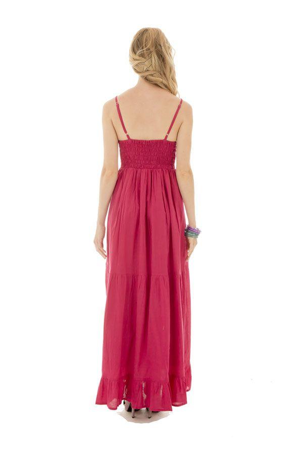 Robe longue rose top pour une cérémonie Jesica 288642