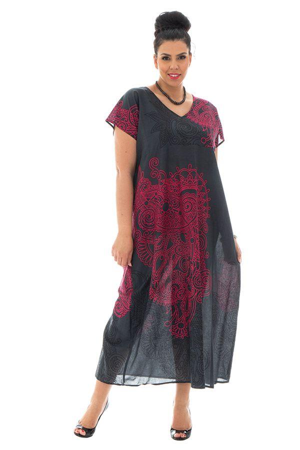 robe longue transparente en voile de coton avec col en v Piassima 290349