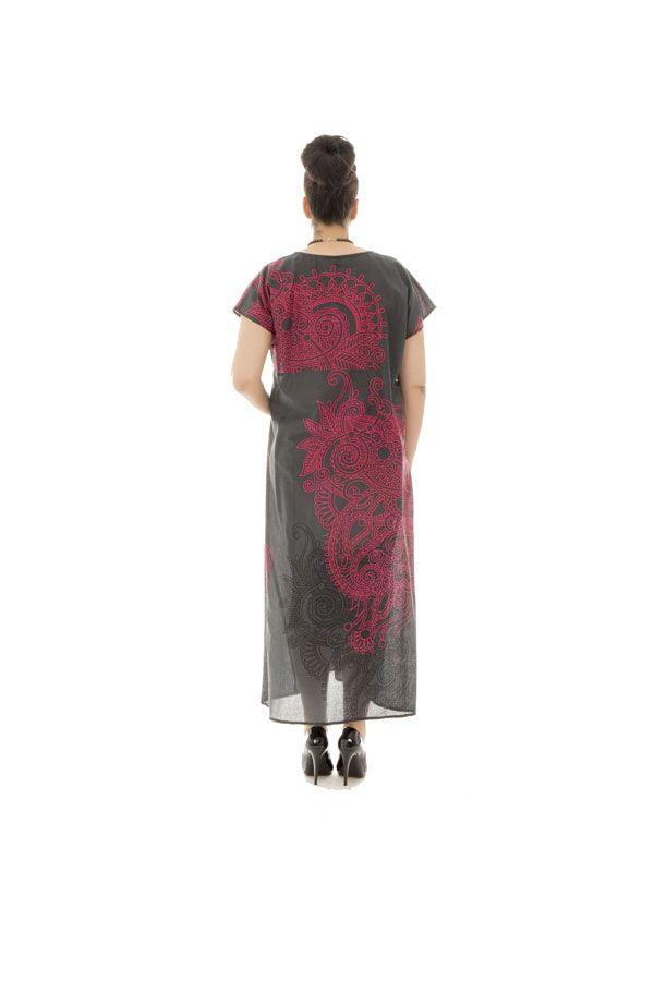 robe longue transparente en voile de coton avec col en v Piassima 290350