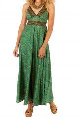 Robe longue vert pistache à dos nu idéal mariage ou cérémonie Léa 305947