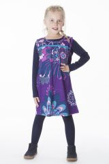 Robe magnifique pour fille avec un imprimé de rosaces 287372