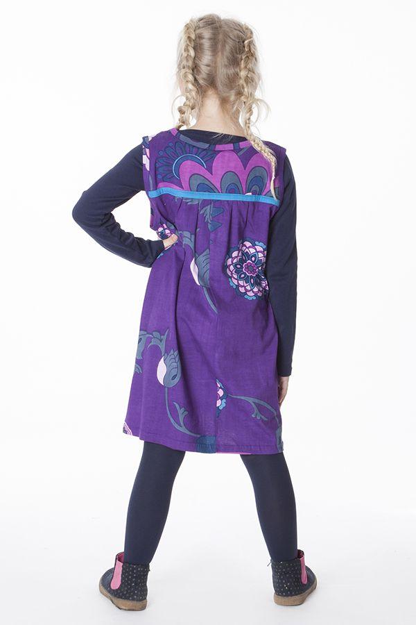 Robe magnifique pour fille avec un imprimé de rosaces 287374
