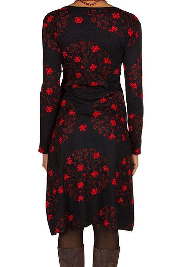 Robe manches longues aux imprimés noeud chinois Nigurumi 300238
