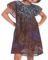 Robe Marron pour Enfant à manches courtes Colorée et Agréable Iga 279831