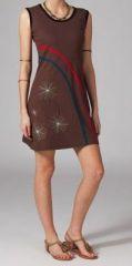 Robe marron sans manches Sacha 269048