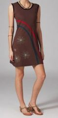 Robe marron sans manches Sacha 269048