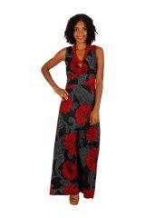 Robe maxi longue femme imprimée et colorée en coton Ana 309478