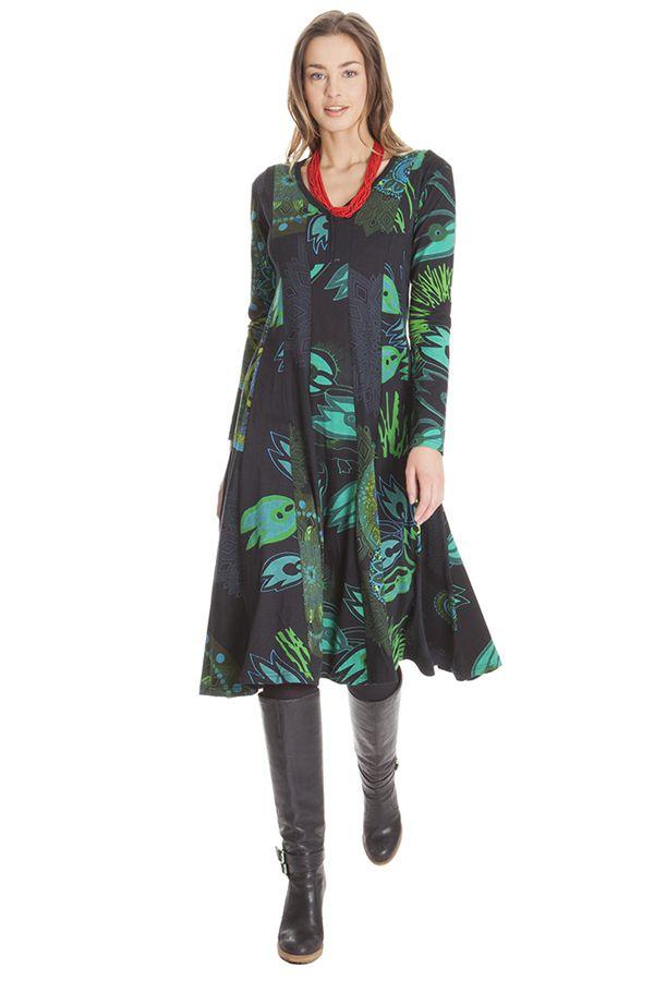 Robe mi- longue femme avec imprimés originaux Kimberlay 285466
