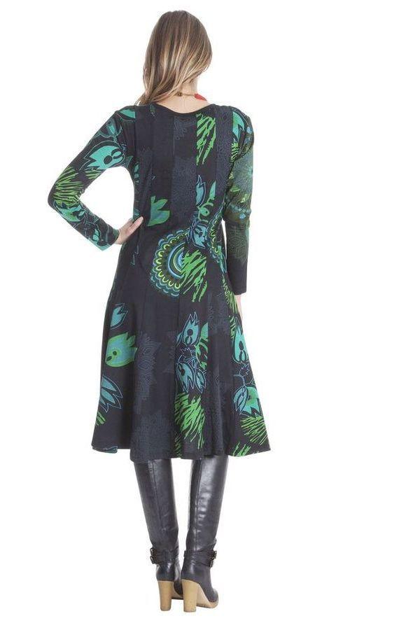 Robe mi- longue femme avec imprimés originaux Kimberlay 285467