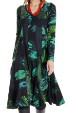 Robe mi- longue femme avec imprimés originaux Kimberlay 286621