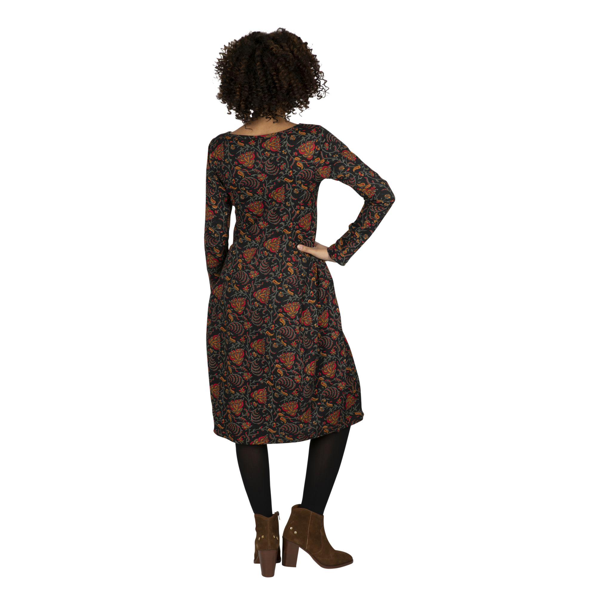 Robe mi longue à imprimé de fleurs colorés Flavie