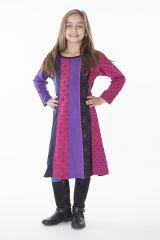 Robe mi-longue à manches longues colorée pour enfant 286367