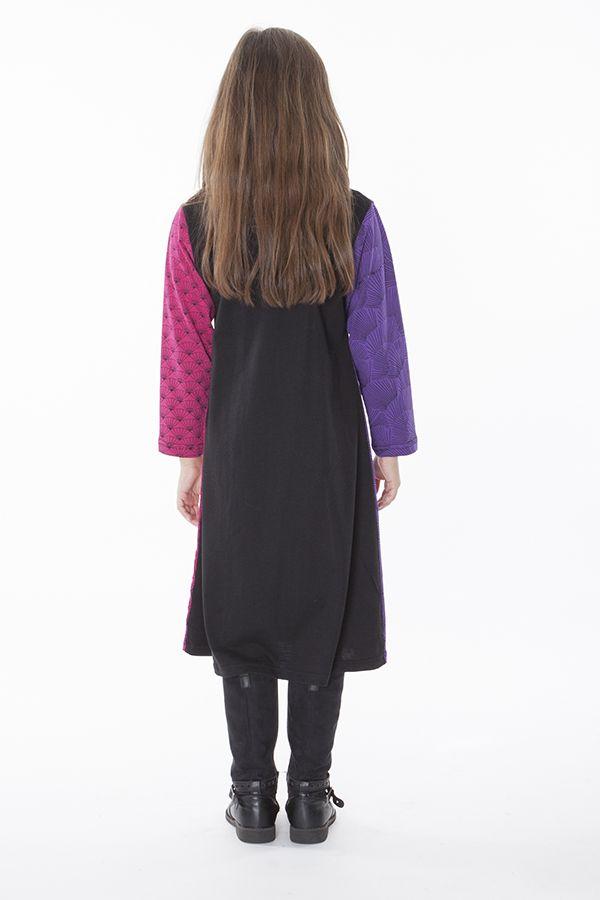 Robe mi-longue à manches longues colorée pour enfant 286368