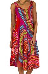 Robe mi-longue agréable à porter et colorée avec imprimés Morticia 295912