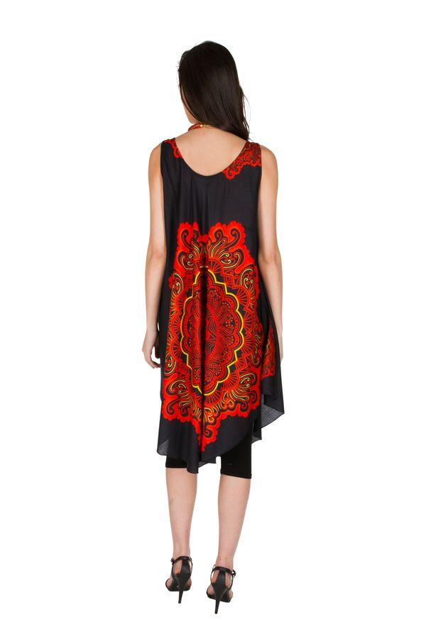 robe mi longue asym trique et imprim ethnique original marta. Black Bedroom Furniture Sets. Home Design Ideas