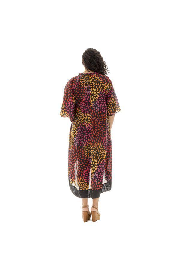 Robe mi longue asymétrique grande taille originale Saturday 312420